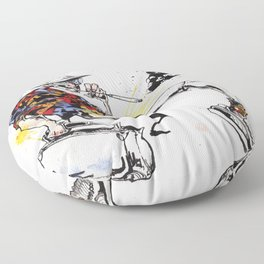 Hunter S Thompson by BINDU Floor Pillow