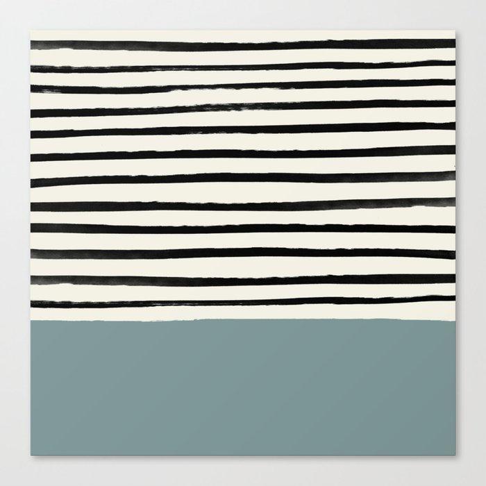 River Stone & Stripes Leinwanddruck