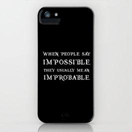 Improbable - Nikolai BLACK iPhone Case