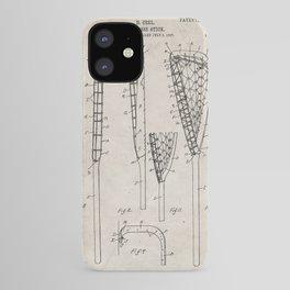 Lacrosse Stick Patent - Lacrosse Player Art - Antique iPhone Case