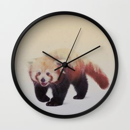 Little Ones: Red Panda Wall Clock