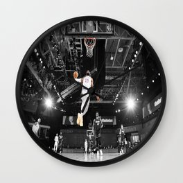LeBron#James Poster Dunk vs Miam-i Heat Lake-rs Championship, LeBronJames, LeBron Jame-s Wall Clock