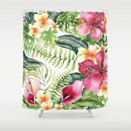 Tropical Botanical Shower Curtain