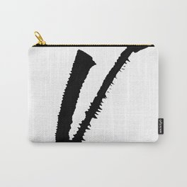 Letter V Ink Monogram Carry-All Pouch
