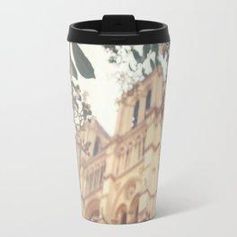 blossoms over Notre-Dame Travel Mug