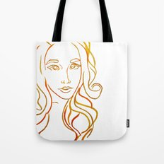 Yellow Portrait Tote Bag