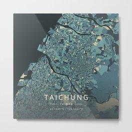 Taichung, Taiwan - Cream Blue Metal Print