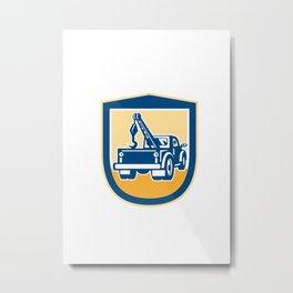 Tow Truck Wrecker Rear Shield Retro Metal Print
