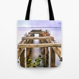 Derrytrasna Jetty, Ireland. (Painting) Tote Bag