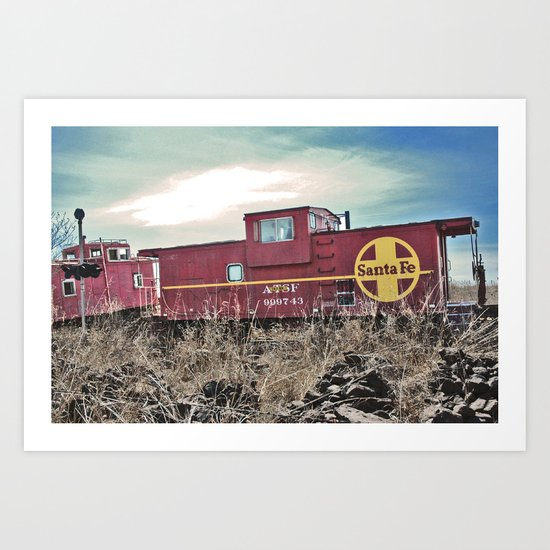 On A Train To Nowhere  Art Print