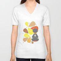 doll V-neck T-shirts featuring Doll by hyun yu