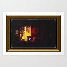 COMPUTER CORNER. Art Print