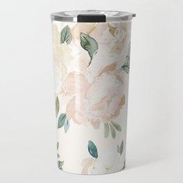 Vintage Blush Floral - softest pastel Travel Mug
