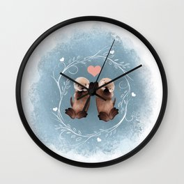 Otter Love Wall Clock