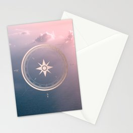 The Edge of Tomorrow - Rosegold Compass Stationery Cards