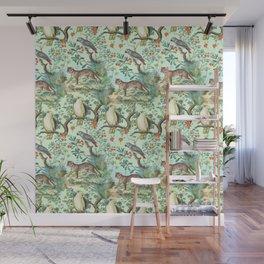 Tropical Jungle - Mint Wall Mural