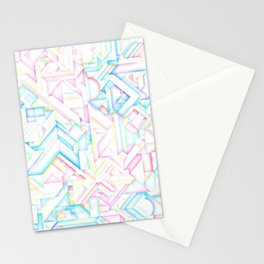 90s Inspired Print // GEOMETRIC PASTEL BRIGHT SHAPES PATTERN GRAPHIC DESIGN Stationery Cards