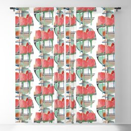 Tulips With Abstract Background Blackout Curtain