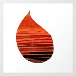 Warm Raindrops Art Print
