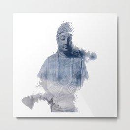 Buddha fading away Metal Print
