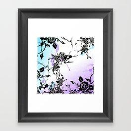 Punkoco Floral Blues Framed Art Print