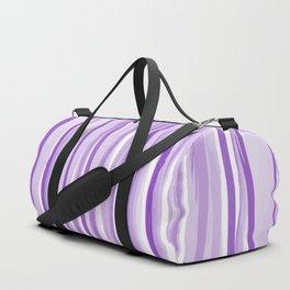 Purple watercolor striped pattern Duffle Bag