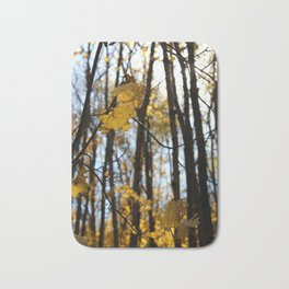 Fall Leaves with Bokah Bath Mat