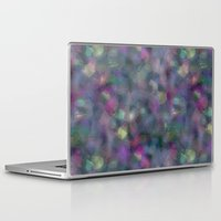 hologram Laptop & iPad Skins featuring Dark holographic by ravynka