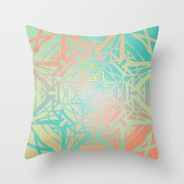 Symmetry 11: Pizza Star Throw Pillow