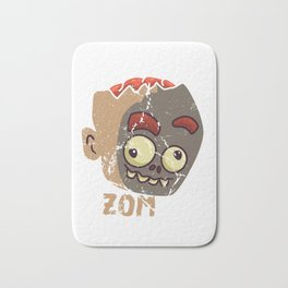 Cute Zombae Zombie Graphic Halloween Creeps Scary Gift Bath Mat