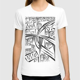 Town Circled By Roads T-shirt