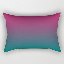 Pink Green Gradient Pattern Rectangular Pillow