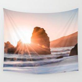 Sea light rock 4 Wall Tapestry