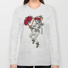 Hipster Vampire Long Sleeve T-shirt