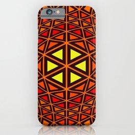 Geometric abstact art iPhone Case