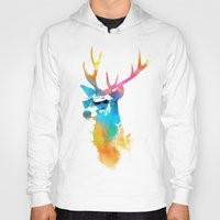 stag Hoodies featuring Sunny Stag by Robert Farkas