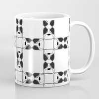 terrier Mugs featuring Terrier by Janae Hall