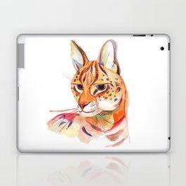 Serval wild cat watercolor Laptop & iPad Skin
