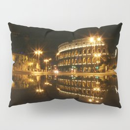 Colosseum reflection at night Pillow Sham