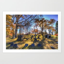 Sleepy Hollow Cemetery New York Art Print
