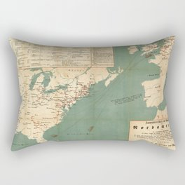 Vintage German US Immigration Map (1853) Rectangular Pillow