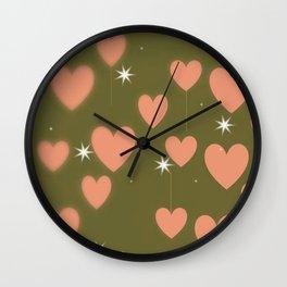 Lovely hearts pattern Wall Clock