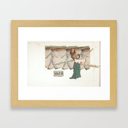 Feeds Terrorists Framed Art Print