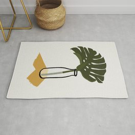Monstera deliciosa in a Bottle Rug