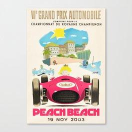 Peach Beach Grand Prix Canvas Print