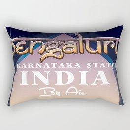 Bengaluru India travel poster Rectangular Pillow