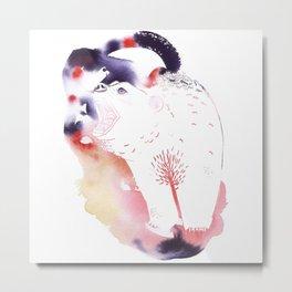 Polar Bear Love Print Metal Print