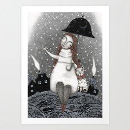 Under the Crescent Moon Art Print