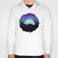 northern lights Hoodies featuring Under the Northern Lights by Noonday Design