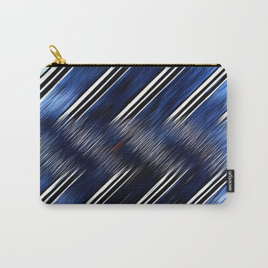 Abstract #Blue #Black #3 #art #society6 Carry-All Pouch